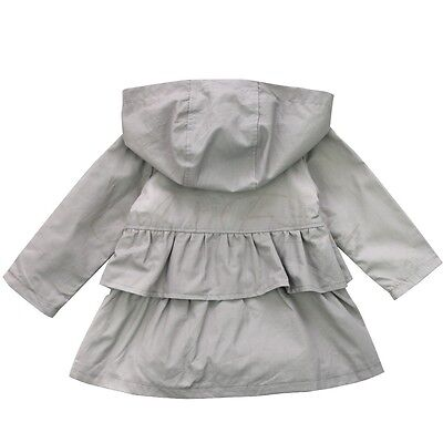 Newborn Baby Girl Kid Winter Warm Trench Wind Coat Hooded Jacket Outwear Clothes
