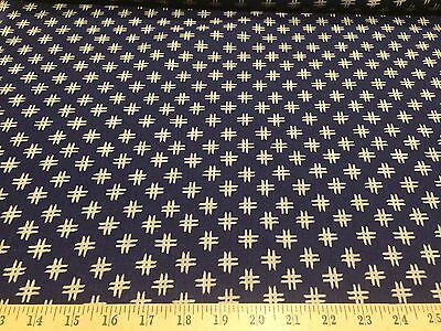 Windham Fabrics Low Country Indigo Crosshatch  By Nancy Gere Linen Fabric BTY