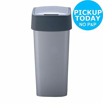 Curver 50 Litre Flip Top Kitchen Bin - Silver -From the Argos Shop on ebay