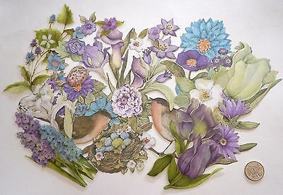 Scrapbooking No 217 - 30 Small To Large Flowers And Birds