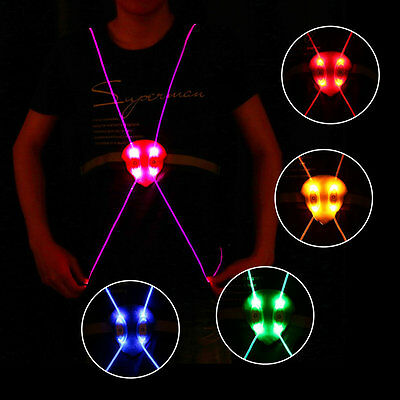 Lightweight LED Running Cycling Reflective Strap Night Safety Vest Jacket Pink