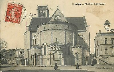 Cp Agen Abside Cathedrale