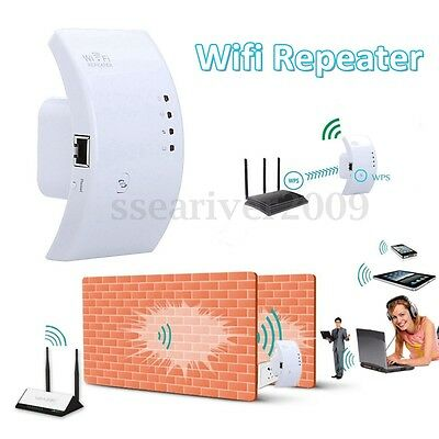 300Mbps Wifi Wireless-N Repeater Extender AP Range Router Booster Networking