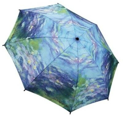 Galleria Monets Water Lilies Art Automatic Open Close Folding Umbrella
