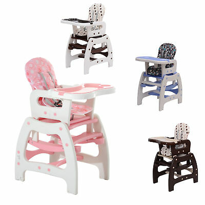 homcom 3 in 1 kinderhochstuhl kombihochstuhl babyhochstuhl baby hochstuhl neu eur 56 91. Black Bedroom Furniture Sets. Home Design Ideas
