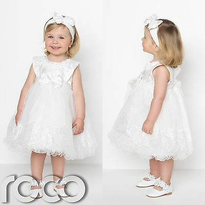 Baby Girls Ivory Dress, Flower Girls Dresses, Christening Dresses, Girls Dresses