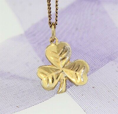 GIRL GUIDES WAGGGS TREFOIL CHARM - Genuine 9k YELLOW GOLD