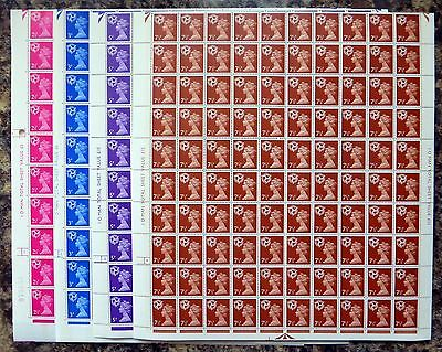 GB Isle of MAN Machin 1971 - 4 Values in Complete Sheets of 200 NB677