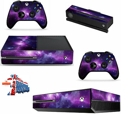 NEBULA GALAXY    xbox one skins decals stickers + kinect + 2 controllers game
