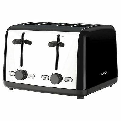 Kenwood TTM480BK 4 Slice Toaster Black 1800W Adjustable Browning Control