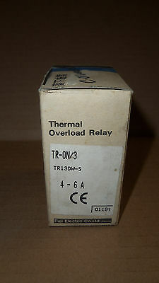 NEW Fuji Thermal Overload Relay TR-ON/3 TR13DW-S 4-6 AMP 600v Volt