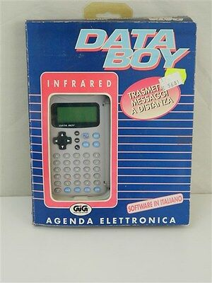 DATA BOY Agenda elettronica Infrared GIG Software italiano infrarossi vintage V9