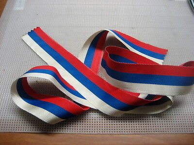 """Medal Ribbon Russian Flag National Colors by L-19 1/2"""""""