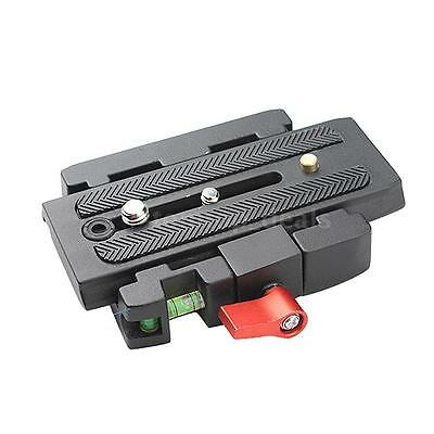 """Camera Tripod Quick Release QR Plate 1/4"""" 3/8"""" Screw Adapter for Manfrotto L2N1"""