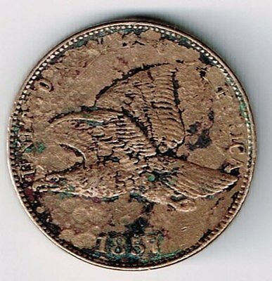 1857 Flying Eagle One Cent Small Cent Penny Coin Philadelphia