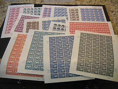 United Nations NY 1st Issue incl Airs, Scott# 1-11& C1-4 Set of Sheets-50, VFMNH