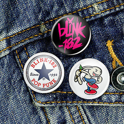 Blink 182 Punk Pop Pin Button Badge, CHOICE OF 3