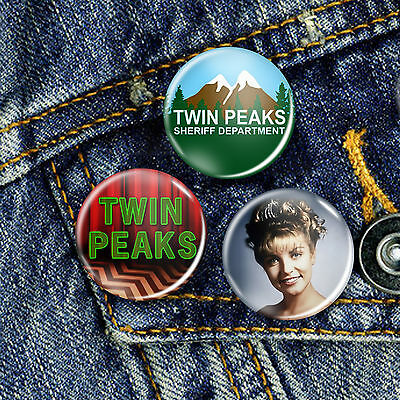 Twin Peaks David Lynch Pin Button Badge 25mm, CHOICE OF 3
