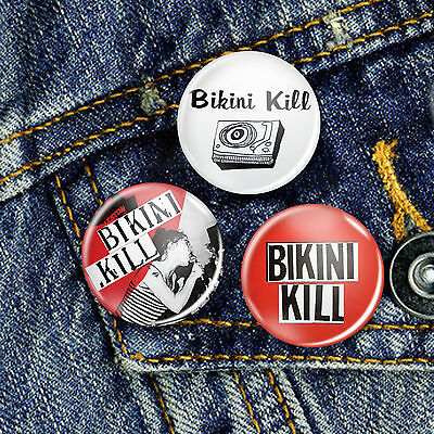 Bikini Kill Riot Grrrl Kathleen Hanna  Pin Button Badge 25mm, CHOICE OF 3