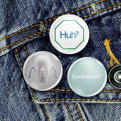 Spiritualized Pin Button Badge 25mm, CHOICE OF 3