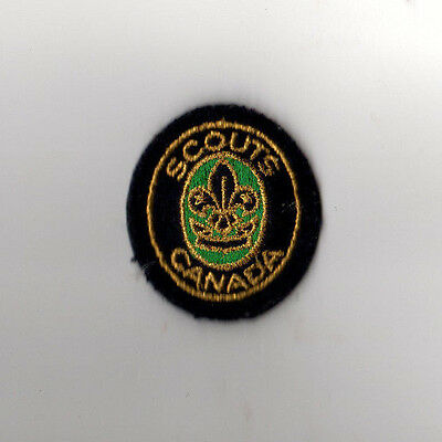 Scouts Canada Troop Beret Pin (Sticky black Back) - Green Excellent Condition