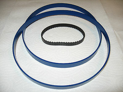 2 Blue Max Ultra Duty Band Saw Tires And Drive Belt For Nu-Tool Hbs9-4 Bandsaw