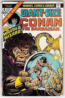 GIANT-SIZE CONAN #4 (FN) Big 68 Pages! Robert E. Howard Classic Bronze-Age Issue