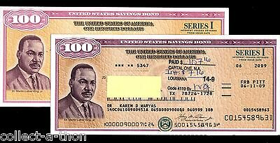 REPRINT of RARE OBSOLETE SAVINGS BOND w MARTIN LUTHER KING! ONLY BOND w HIS PORT