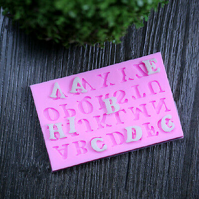 New Silicone Alphabet Number Letters Fondant Mold Birthday Cake Decor Tool