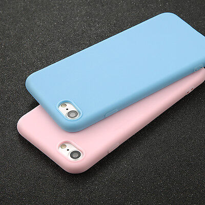 For iPhone X 6s 7 8 Plus Shockproof Thin Soft TPU Silicone Matte Back Case Cover