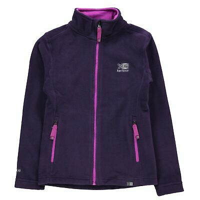 Karrimor Kids Fleece Jacket Junior Girls Thermal Warm Up High Neck Full Zip Top
