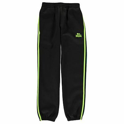 Lonsdale Kids 2 Stripe Jogging Bottoms Junior Boys Elastic Trousers Training