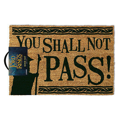 The Lord of the rings You shall not pass Doormat coil & rubber non slip 60x40cm