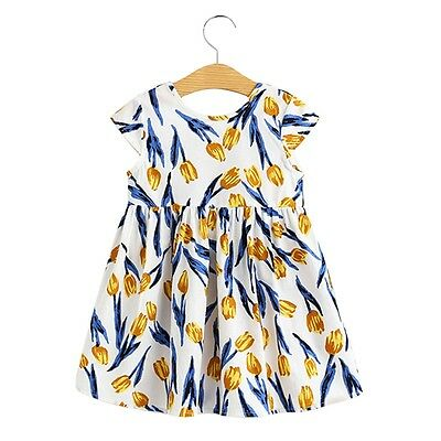 Sweet Tulipa Print Girls Mini Dress