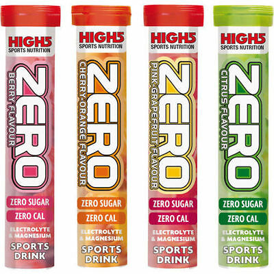 High 5  Zero Running Cycling Sports Hydratation Electrolyte Tablets