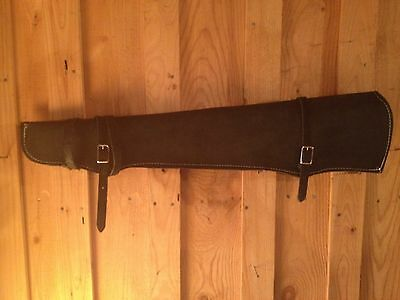 New Black Leather Gun Scabbard for Horse Motorcycle or Car for Rifle or Shotgun