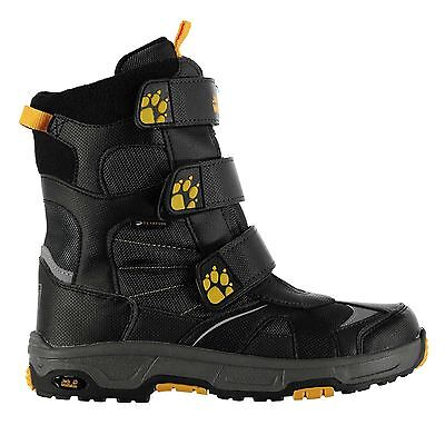 Jack Wolfskin Kids Snow Diver Boots Juniors Hook and Loop Strap Outdoor Shoes
