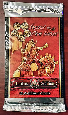 L5R legend of the five rings lot of 10 Lotus Edition booster packs