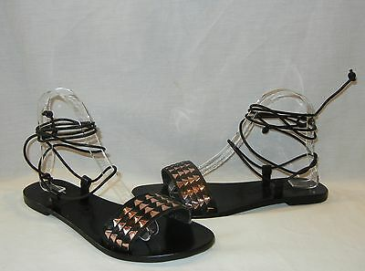 bfdd1def834d85 NEW SOL SANA Ara Geo Ankle Tie Sandals Black Free People 37 6.5 ...