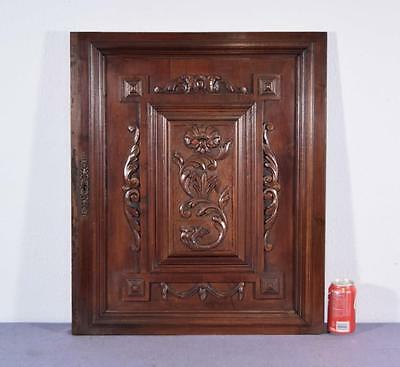 "28"" Tall French Antique Carved Panel/Door in Walnut Wood"