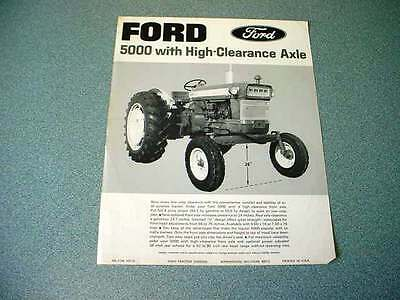 Ford 5000 with High-Clearance Axle Farm Tractor brochure                      lw
