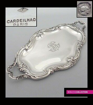 CARDEILHAC ANTIQUE 1890s FRENCH STERLING SILVER  SERVING TRAY Rococo style