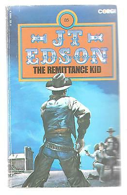 THE REMITTANCE KID by J. T. Edson 1978 1st PB Corgi Books Paperback Western