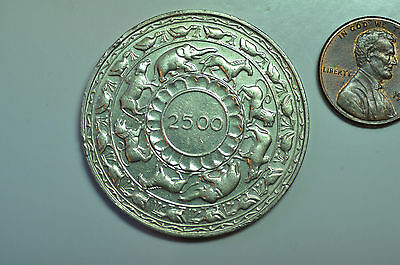 mw8591 Ceylon; Silver Crown 5 Rupees BE2500 - 1957 -   2,500 Years of Buddhism