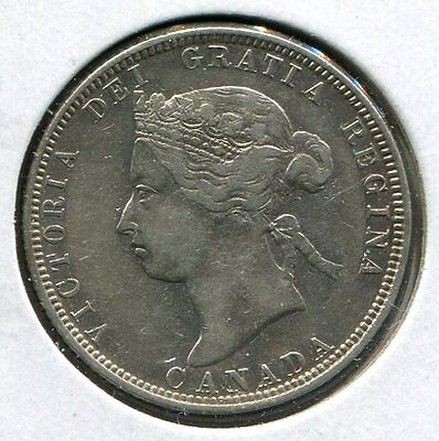 ** Canada 1883.h (Victoria) 25 Cents....scarce Minted 960.k **