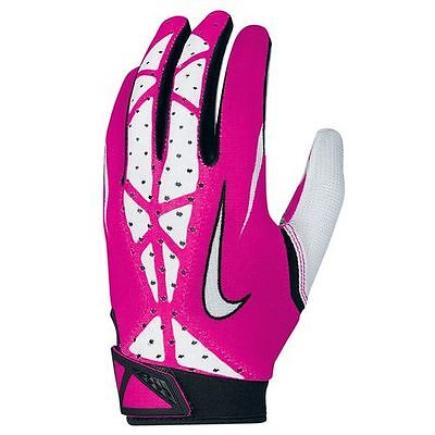 Nike Vapor Jet 2.0 Football Receiver Gloves PINK Breast Cancer Awareness Edition