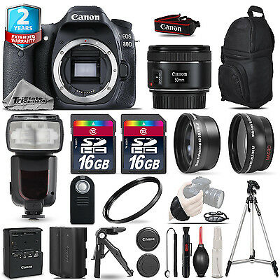 Canon EOS  80D DSLR Camera + 50mm 1.8 STM + Flash+ 32GB + EXT BATT +2yr Warranty