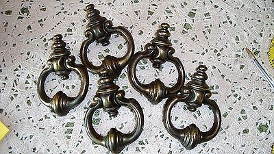 lot of vintage cabinet hardware handles drawer pulls w/bronze/brass finish