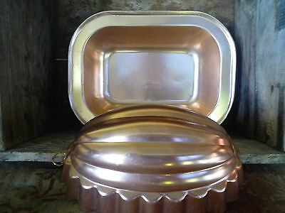 Vintage pink gold anodised aluminum mould and baking tray
