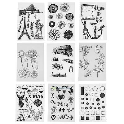 Transparent Silicone Clear Rubber Stamp Cling Diary Scrapbooking DIY Craft New
